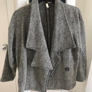 Women's Frenchi brand houndstooth jacket (XS)